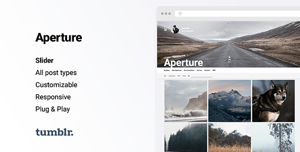 Download Aperture - Responsive Photography Tumblr Theme Simple Tumblr Themes