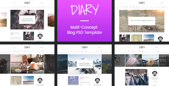 Download Diary | Personal Blog PSD Template Architecture Blogger Templates