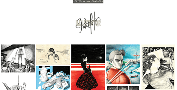 Download Illustrator - A Responsive Minimal Portfolio Pinterest Html Templates
