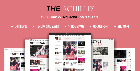 Download ACHILLES - Multipurpose Magazine PSD Template Newspaper Joomla Templates