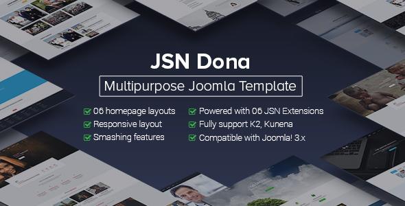 Download JSN Dona - Multipurpose Joomla Template  Education Joomla Templates