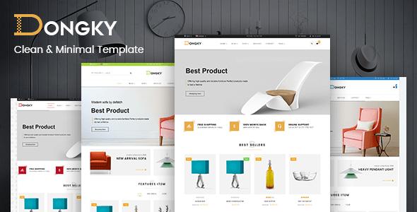 Download Vina Dongky - Clean & Minimal VirtueMart Joomla Template Simple Joomla Templates