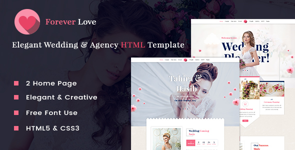 Download Forever Love - Elegant Wedding & Agency HTML Template Amp Html Templates