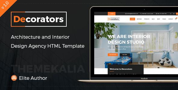 Download Decorators - HTML Template for Architecture & Modern Interior Design Studio Interior Html Templates