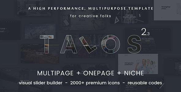 Download Talos - Creative Multipurpose HTML Template Grid Blogger Templates