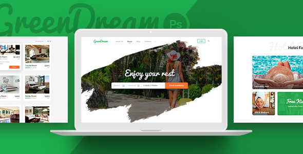 Download Green Dream - Hotel HTML Template Green Html Templates