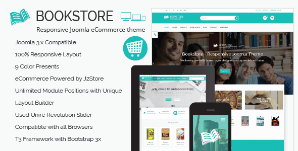 Download Book Store - Responsive Joomla eCommerce Theme Store Joomla Templates