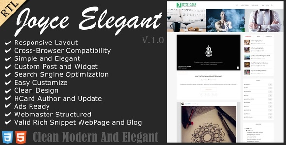 Download Joyce - Clean Responsive Blogger Theme Fast Blogger Templates