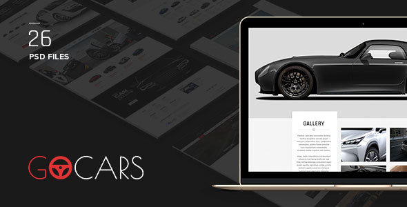 Download Go Cars - PSD Template Design for Car Dealers Market Car Joomla Templates