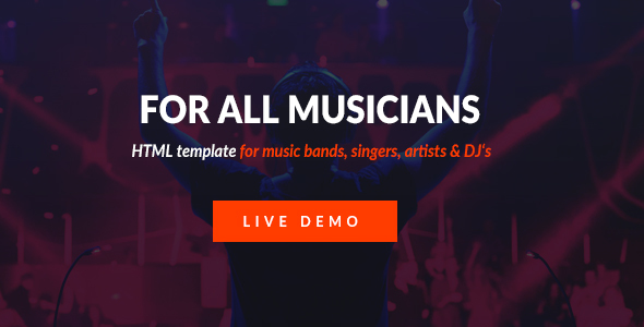 Download Mizer - Musicians, Deejays, Singers, Bands HTML template Band Html Templates