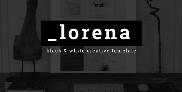 Download Lorena - Creative Black & White HTML Template White Html Templates