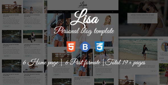 Download Lisa - Personal Blog Template Youtube Blogger Templates