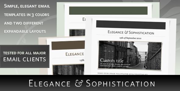 Download Elegance - HTML Email Template Elegant Html Templates