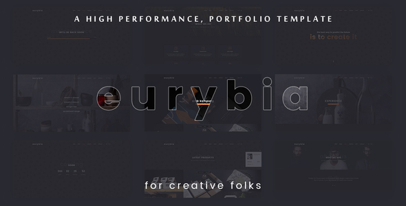 Download Eurybia - Creative Portfolio HTML Template Video Blogger Templates