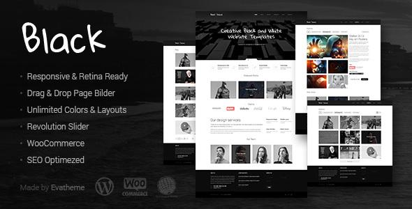 Download Black - Premium Multi-Purpose WordPress Theme Black WordPress Themes