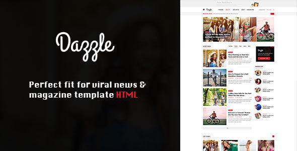 Download Dazzle – Viral Content / Magazine HTML Template Adsense Html Templates