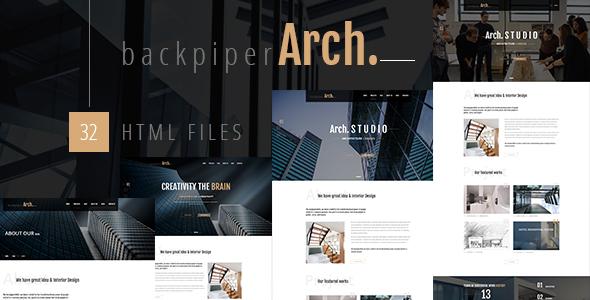 Download BackpiperArch - Architecture, Interior, Portfolio HTML Template Interior Html Templates