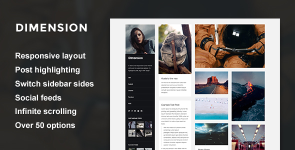 Download Dimension - A Responsive Sidebar Theme Photo Gallery Tumblr Themes