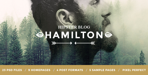Download Hamilton - Hipster Blog PSD Template Vintage Joomla Templates