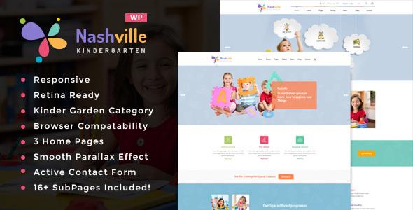 Download Nashville - Day Care & Kindergarten School WordPress Theme School WordPress Themes