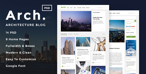 Download Arch - Architecture Blog PSD Template Architecture Blogger Templates
