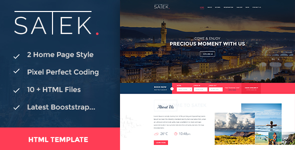 Download Satek : Resort and Hotel HTML Template Hotel Html Templates