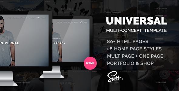Download Universal - Smart Multi-purpose html5 template Fast Html Templates