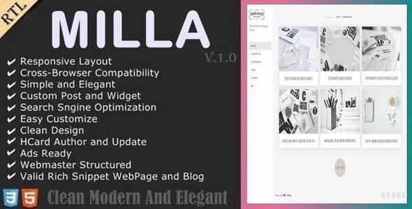 Download Milla - Minimal Portfolio Blogger Template Portfolio Blogger Templates