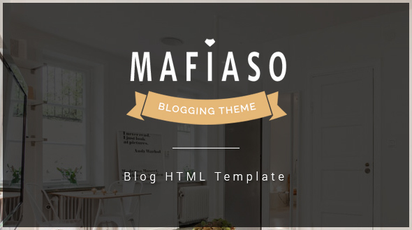 Download Mafiaso - Blog HTML Template Blog Html Templates