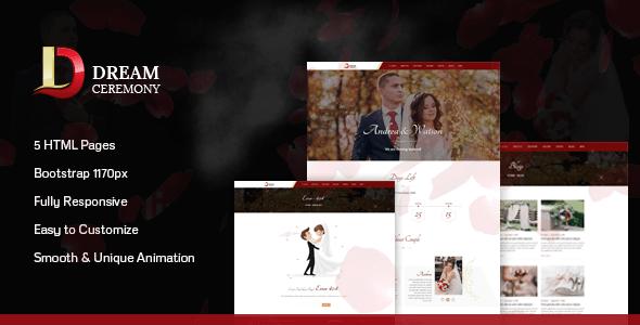Download Dream Ceremony - Wedding HTML Template Pink Joomla Templates