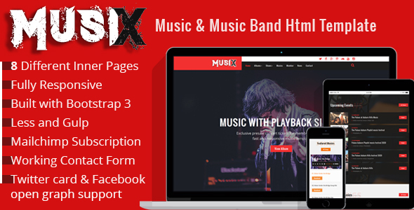 Download MusiX – Music Band Html Template Band Html Templates
