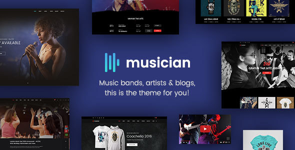 Download Musician - Music Band, Blog, Shop HTML Template Store Blogger Templates