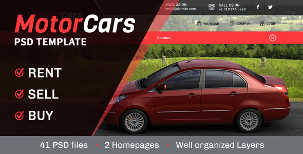 Download MotorCars - Rent-Sell-Buy Cars Real Estate Joomla Templates