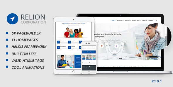 Download Relion Multi-Purpose Joomla! Template Video Joomla Templates