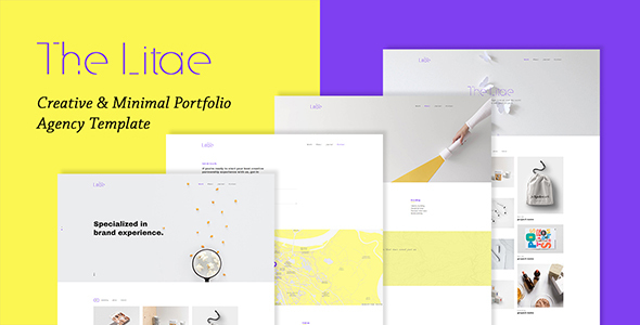 Download The Litae - Creative & Minimal Portfolio / Agency Template Store Blogger Templates