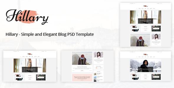 Download Hillary - Simple and Elegant Blog PSD Template Vintage Joomla Templates