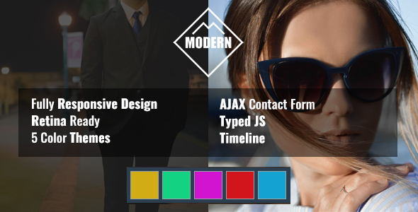 Download MODERN Resume HTML Template Red Html Templates