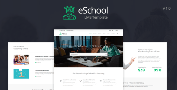 Download eSchool - Education & LMS Joomla Template Education Joomla Templates
