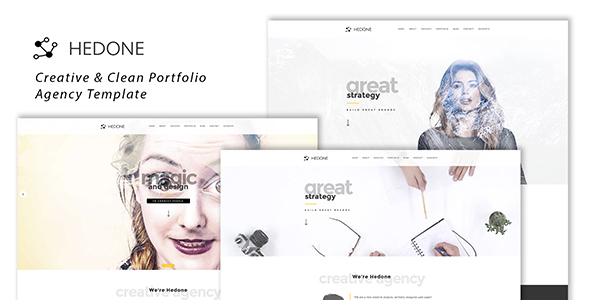 Download Hedone - Creative & Clean Portfolio / Agency Template Video Blogger Templates