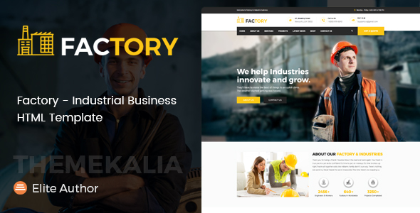Download Factory - Industrial Business HTML Template Business Html Templates