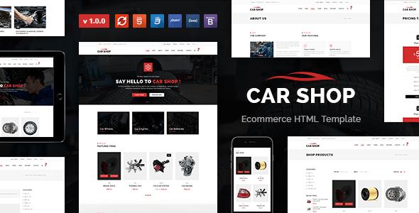Download Car Shop - Ecommerce HTML Template Car Html Templates