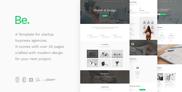 Download Be - Startup Business HTML Template Business Html Templates
