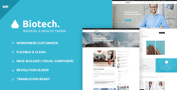 Download Biotech - Flexible Medical and Health WordPress Theme Health WordPress Themes