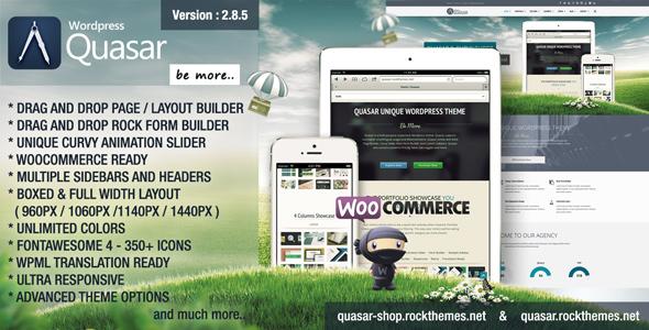 Download Quasar - Wordpress Theme with Animation Builder Fast WordPress Themes