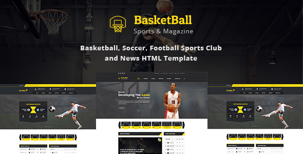 Download SportsMagazine Basketball, Soccer, Football Sports Club and News HTML Template News Html Templates