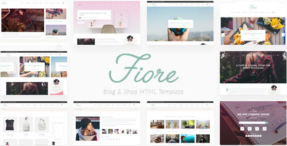 Download Fiore - Blog & Shop HTML Template Amp Html Templates