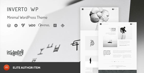 Download Inverto WP - Minimal WordPress Theme Black WordPress Themes