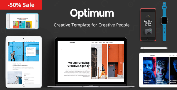 Download Optimum - Creative Template for Creative People Fast Load Html Templates