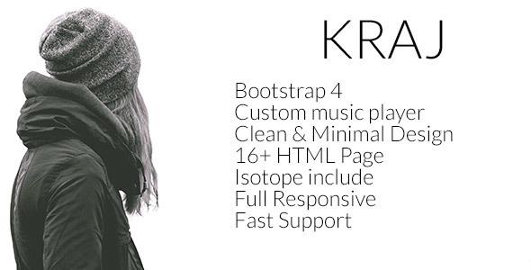Download Kraj – Music Band HTML Template Music Html Templates
