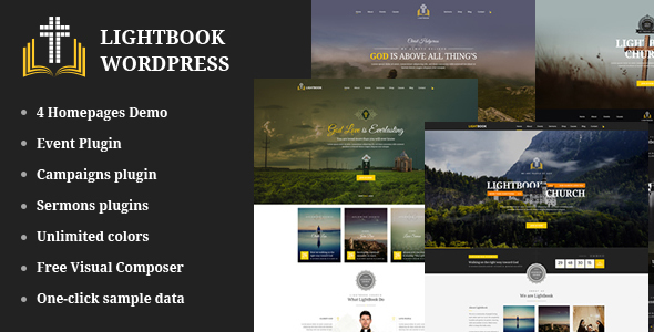 Download Church Events WordPress Theme - LightBook Event WordPress Themes